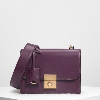 ストラクチャード クロスボディバッグ / Structured Crossbody Bag (Purple)