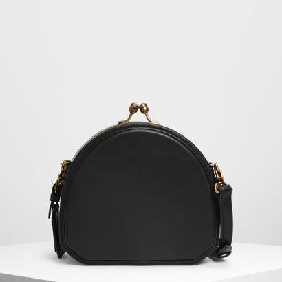 ジオメトリックストラクチャード クロスボディバッグ / Geometric Structured Crossbody Bag (Black)