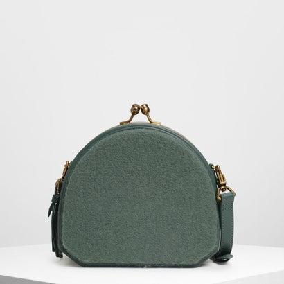 ジオメトリックストラクチャード クロスボディバッグ / Geometric Structured Crossbody Bag (Green)