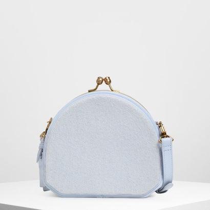 ジオメトリックストラクチャード クロスボディバッグ / Geometric Structured Crossbody Bag (Light
