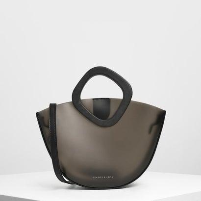 794a9b97b795 シースルーボウル トップハンドルバッグ / See-through Bowl Top Handle Bag (Black)