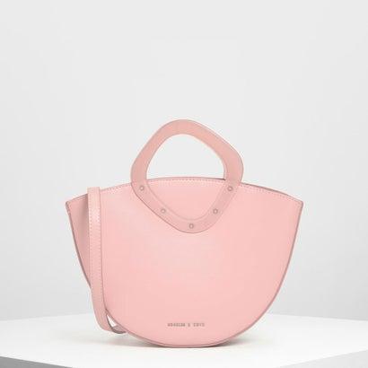 シースルーボウル トップハンドルバッグ / See-through Bowl Top Handle Bag (Pink)