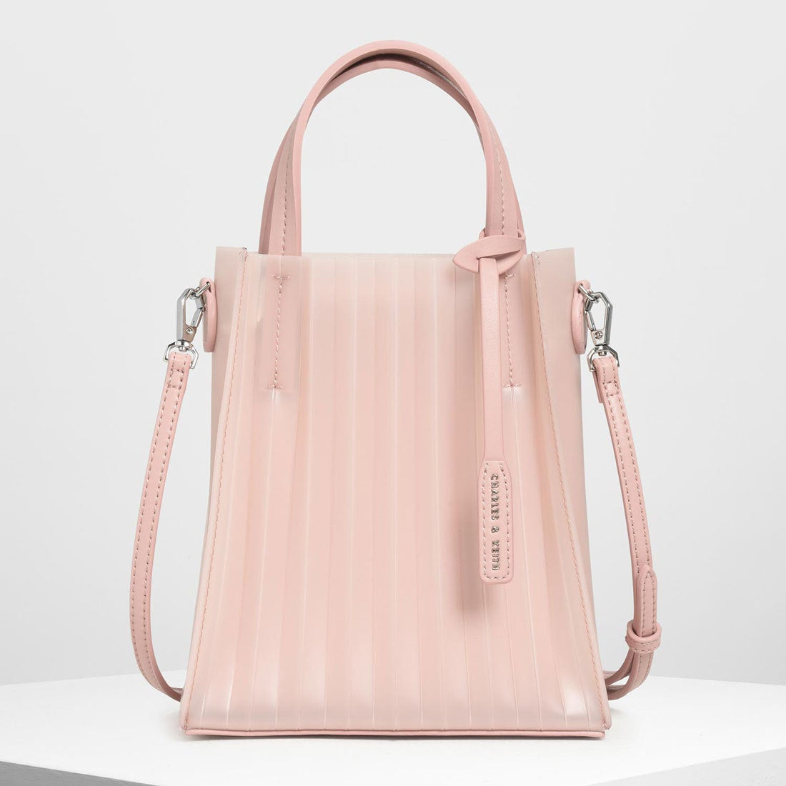3ce398331833 CHARLES & KEITH トランスルーセント トートバッグ / Translucent Tote Bag (Pink)-CHARLES &  KEITH公式オンラインストア
