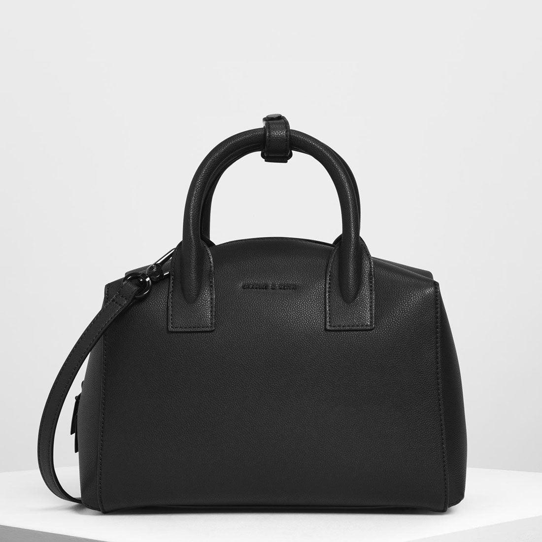 ff7d629b6e18 CHARLES & KEITH クラシックストラクチャード トップハンドルバッグ / Classic Structured Top Handle Bag  (Black) -靴&ファッション通販 ロコンド〜自宅で試着、 ...