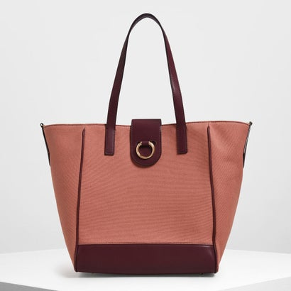 【2019 SUMMER 新作】キャンバストラペーズ トートバッグ / Canvas Trapeze Tote Bag (Burgundy)