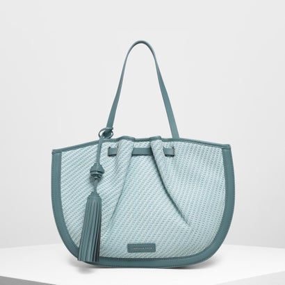 【2019 SUMMER 新作】タッセルトートバッグ / Tassel Tote Bag (Teal)