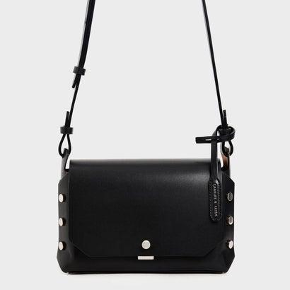【再入荷】フロントフラップ レクタングルクロスボディバッグ / Front Flap Rectangle Crossbody Bag (Black)