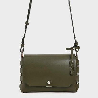 【再入荷】フロントフラップ レクタングルクロスボディバッグ / Front Flap Rectangle Crossbody Bag (Olive)