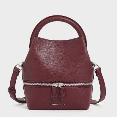 2ウェイジップ バケツバッグ / Two-Way Zip Bucket Bag (Burgundy)