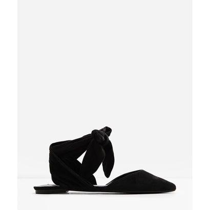 ポインテッドレースアップフラット / POINTED LACE-UP FLATS(Black)