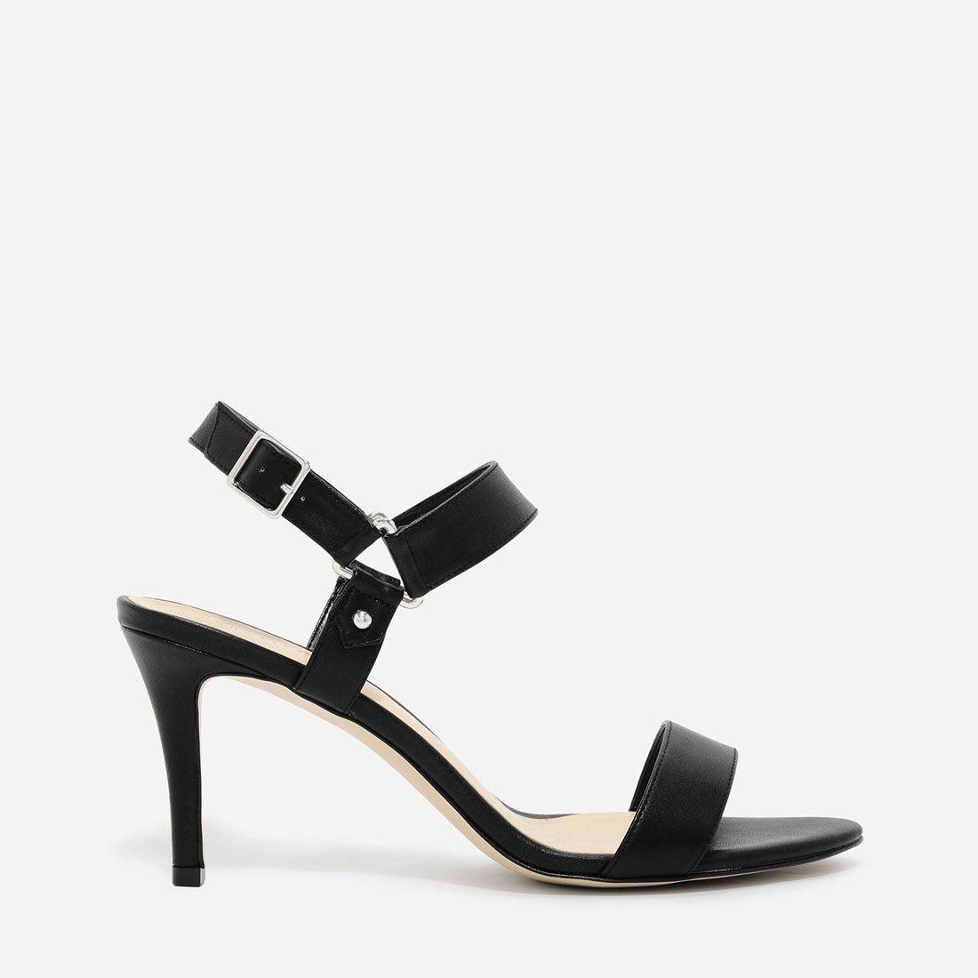 Ladies Summer Sandals Chrome Block Heels Peep Toe Womens Ankle Strap Shoes Size