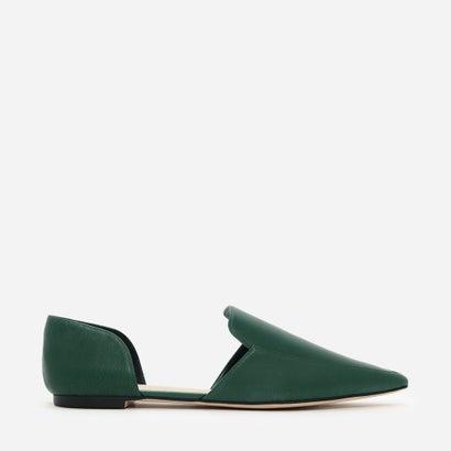 ポインテッドドルセーフラット / POINTED D'ORSAY FLATS (Green)