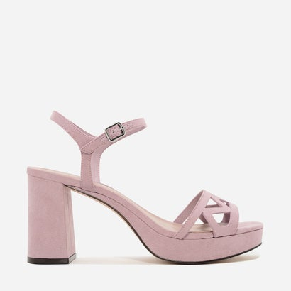 レザーカットプラットフォームサンダル / LASER-CUT PLATFORM SANDALS (Pink)