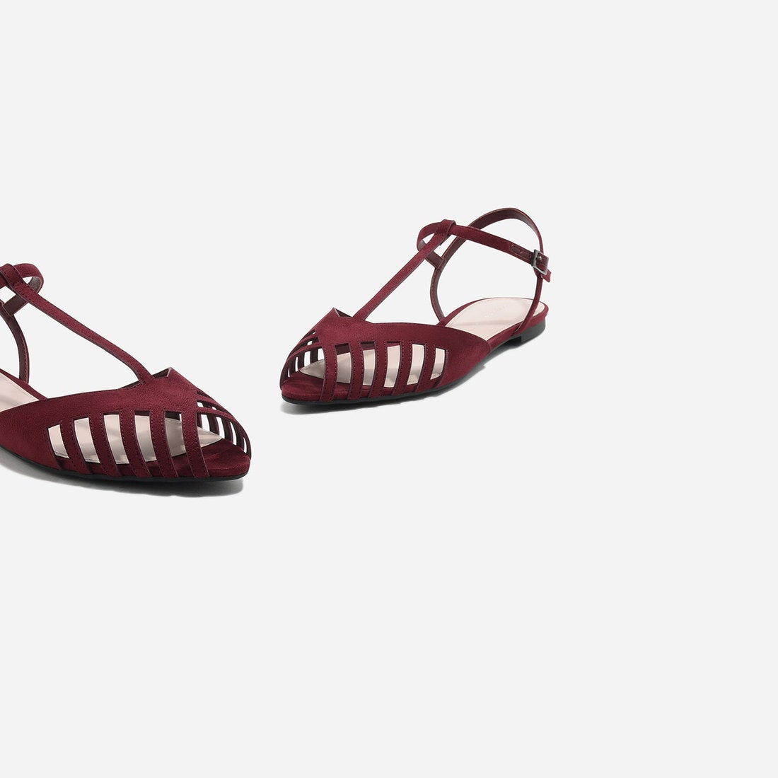 charles keith カットアウト サンダル cut out sandals red