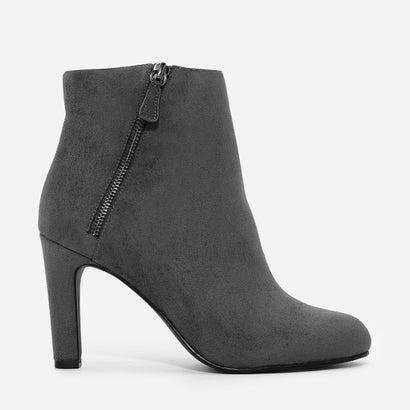 ジッパーアンクルブーツ / ZIPPER ANKLE BOOTS (Grey)