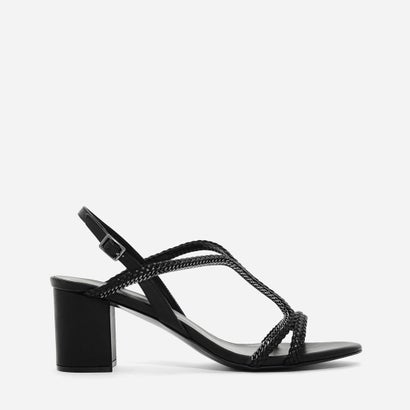 Tバー ブレイド サンダル / T-BAR BRAIDED SANDALS (Black)