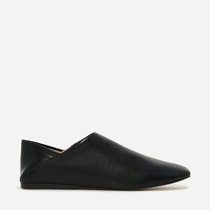 スクエアトゥースリッポン / SQUARED-TOE SLIP-ONS (Black)