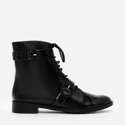 バックルコンバットブーツ / BUCKLE COMBAT BOOTS (Black)