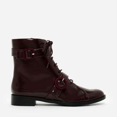 バックル コンバット ブーツ / BUCKLE COMBAT BOOTS (Burgundy)