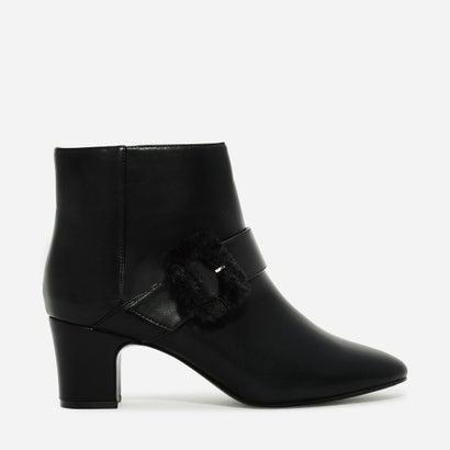 フューリーバックルブーツ / FURRY BUCKLE BOOTS (Black)