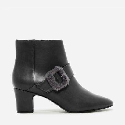 フューリー バックル ブーツ / FURRY BUCKLE BOOTS (Grey)