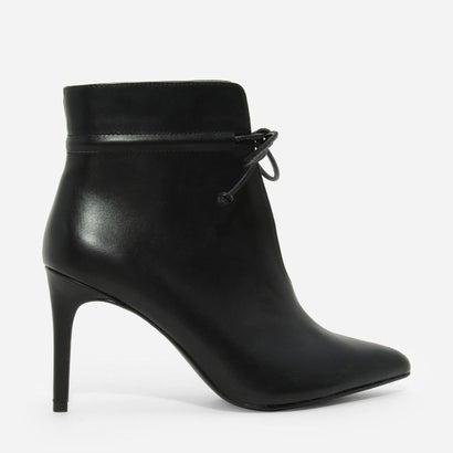 ポインテッドレースブーツ / POINTED LACED UP BOOTS (Black)