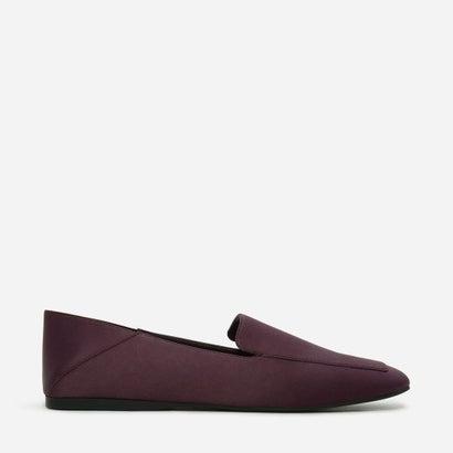 スクウェアトゥスリッポンフラット / SQUARE-TOE SLIP-ON FLATS (Purple)