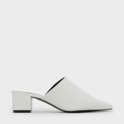 ポインテッドトゥスリッポン / POINTED TOE SLIP-ONS (White)