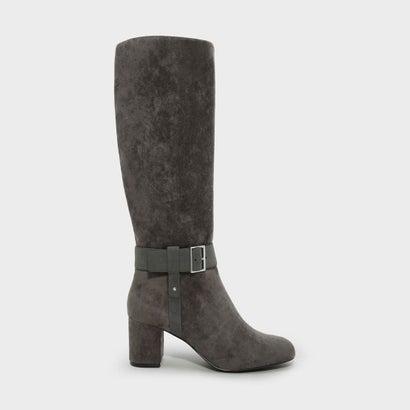 テクスチャードバックルブーツ / TEXTURED BUCKLE BOOTS (Grey)