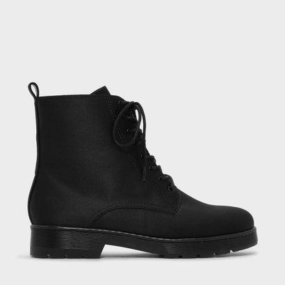レースアップ アンクル ブーツ / LACE-UP ANKLE BOOTS (Black)