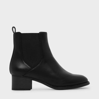 チェルシーカフブーツ / CHELSEA CALF BOOTS (Black)