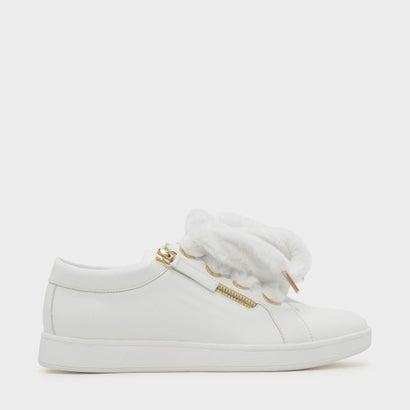 ファーリーレースアップスニーカー / FURRY LACE-UP SNEAKERS (White)
