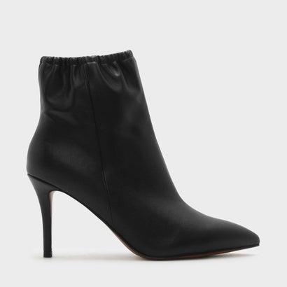 ポインテッドカーフブーツ / POINTED CALF BOOTIES (Black)