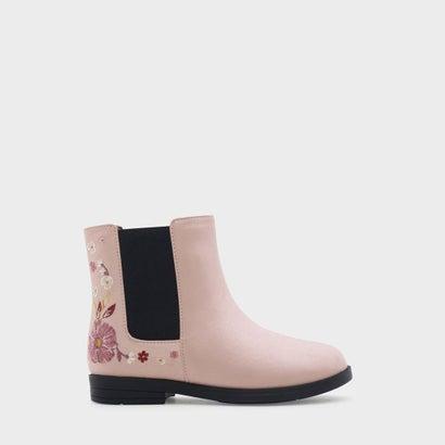 フローラルエンブロイダリーカフブーツ / FLORAL EMBROIDERY CALF BOOTS (Pink)