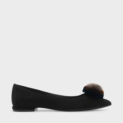 スエードフラットパンプス / SUEDE FLAT PUMPS (Black)