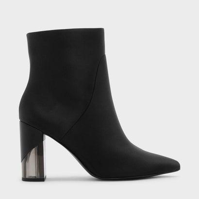 ルサイトヒールカーフブーツ / LUCITE HEEL CALF BOOTS (Black)