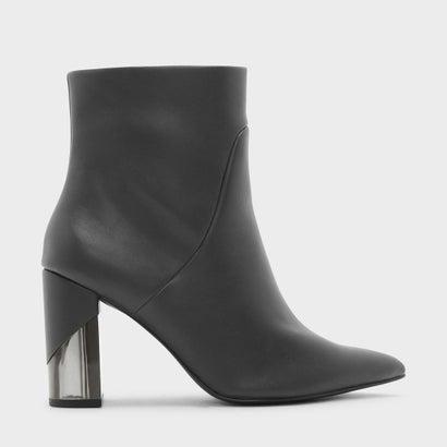 ルサイトヒールカーフブーツ / LUCITE HEEL CALF BOOTS (Grey)