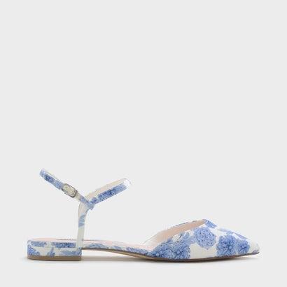 アンクルストラップポインテッドサンダル / ANKLE STRAP POINTED SANDALS (Blue)