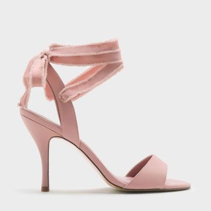 レースアップアンクルストラップヒール / LACE UP ANKLE STRAPS HEELS (Pink)