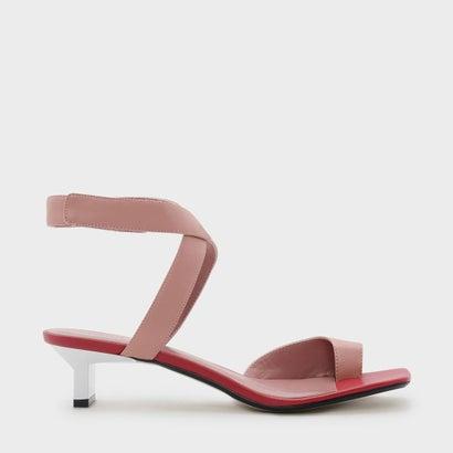テパードヒールソングサンダル / TAPERED HEEL THONG SANDALS (Pink)