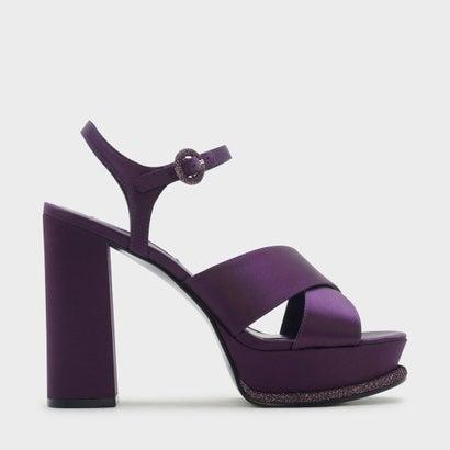 グリッタープラットフォームクリスクロスヒール / GLITTER PLATFORM CRISS CROSS HEELS  (Purple)