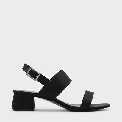スリングバックサンダル / SLING BACK SANDALS (Black)