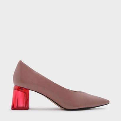 ルーサイトヒールパンプス / LUCITE HEEL PUMPS (Pink)