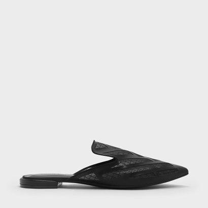メッシュディテール スリッポン / MESH DETAIL SLIP ONS (Black)