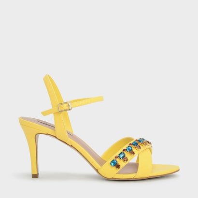 エンベリッシュクリスクロスサンダル / EMBELLISHED CRISS CROSS SANDALS (Yellow)