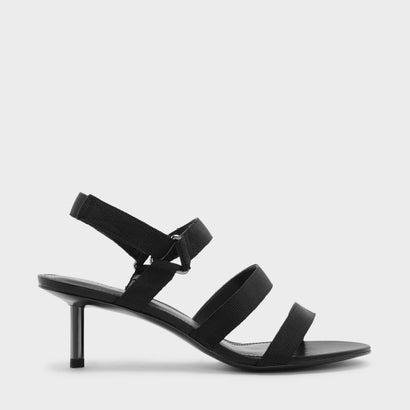 トリプルストラップベルクロサンダル / TRIPLE STRAP VELCRO SANDALS (Black)