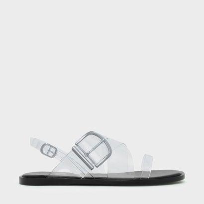 トランスペアレントスリングバックサンダル / TRANSPARENT SLINGBACK SANDALS (White)