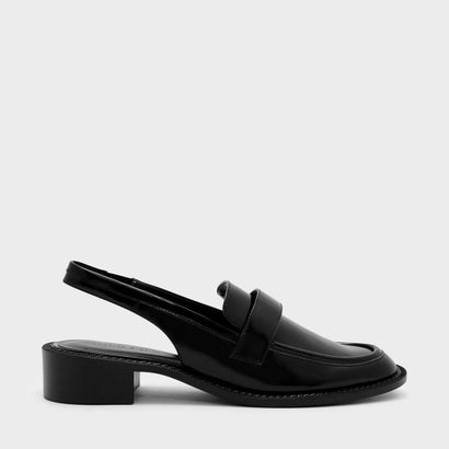 スリングバックローファー / SLINGBACK LOAFERS (Black)