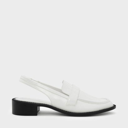 スリングバックローファー / SLINGBACK LOAFERS (White)