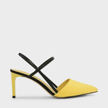 コントラストティーバースリングバックヒール / CONTRAST T-BAR SLINGBACK HEELS (Yellow)